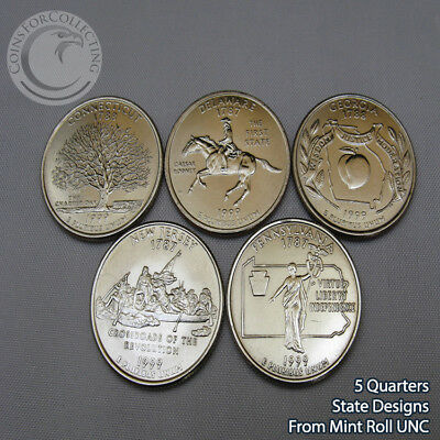 2011-D WASHINGTON NATIONAL PARK QUARTER SET DENVER-5 Designs from Mint Rolls UNC