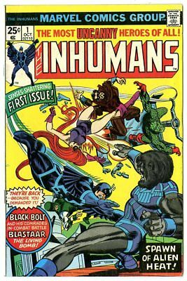 Inhumans #1 FN/VF 7.0 ow/white pages  Marvel  1975  No Reserve