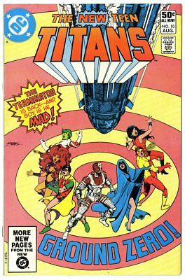 New Teen Titans #10 FN/VF 7.0  2nd app. Deathstroke  DC  1981  No Reserve