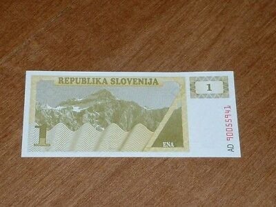 Slovenia  1990  One Tolar   Currency  Uncirculated