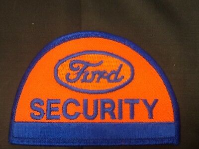 Vintage FORD Car Truck SECURITY Uniform Emblem Embroidered Cloth PATCH