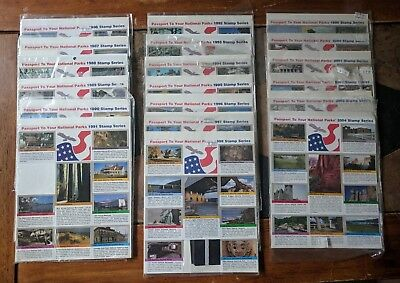 Passport To Your National Parks - Adhesive Stamp Series 1986 thru 2004 - 19 sets