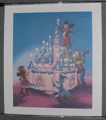 Disneyland 30th Anniversary Charles Boyer signed and numbered lithograph LE