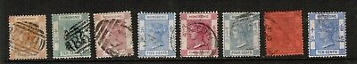 8 Queen Victoria Hong Kong Used Stamps