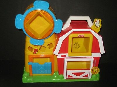 Fisher Price Peek A Block Farm With sounds Baby Daycare Preschool Toy
