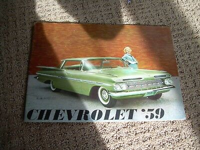 1959 CHEVROLET Sales Booklet-Rare Prestige Version-24 pages