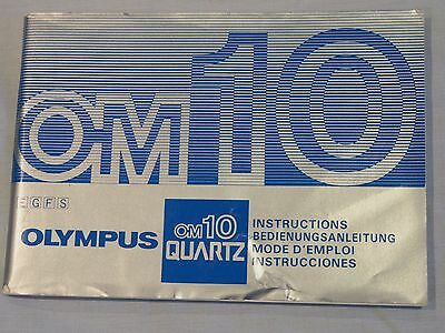 Olympus OM10 Quartz Instruction Manual