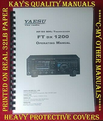 High Quality ~ Yaesu FT-980 Operating Manual ****C-MY OTHER MANUALS****