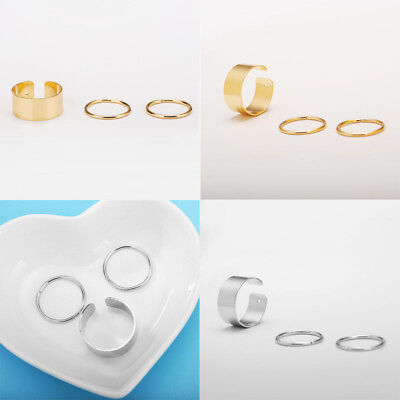 3 Pcs Alloy Ring Gold Silver Hip-Hop Creative Punk Style Good Gift Jewelry