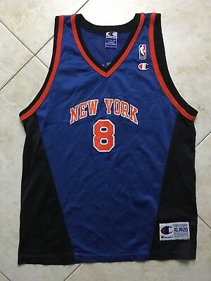 418c7034e Vintage Champion Latrell Sprewell New York Knicks  8 NBA Jersey Size S