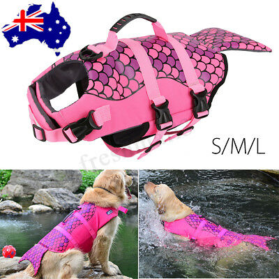 Pet Dog Saver Safety Life Jacket Shark Mermaid Float Vest Preserver Lifesaver AU