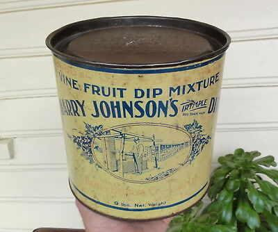 "BIG 9lb ""HARRY JOHNSON'S IRYMPLE DIP"" for VINEYARDS. HENRY BERRY TIN.  By WILLOW"