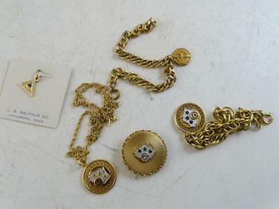 Vintage 10K Solid Yellow Gold Wisconsin Bell System Telephone Charm Set Bracelet