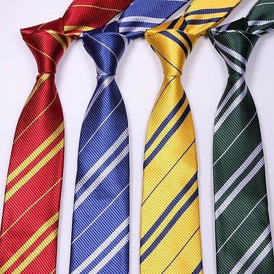 NEW Cosplay Harry Potter Gryffindor/Ravenclaw/Slytherin/Hufflepuff Ties Tie