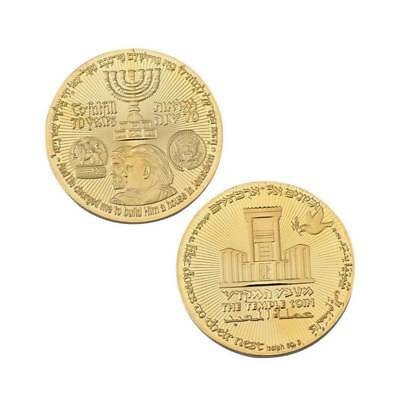 2018 King Cyrus Donald Trump CoinJewish Temple Jerusalem Israel is Gold Plated