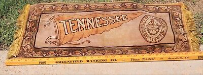 1920's  University Of Tennessee Felt Table Top  Runner  High Quality And Cond.
