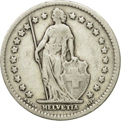 [#580872] Coin, Switzerland, Franc, 1907, Bern, VF(20-25), Silver, KM:24