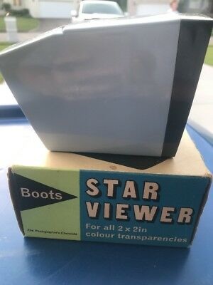"""Vintage Boots Star Viewer For All 2""""x2"""" Colour Transparencies (SL)"""