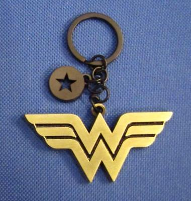 WONDER WOMAN Official DC Licensed Logo Metal KEYCHAIN