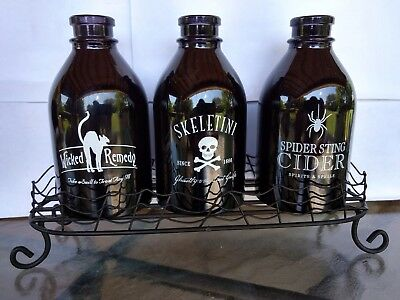 2011 Yankee Candle Halloween Potion Bottles and Holder Tealight Set LNC