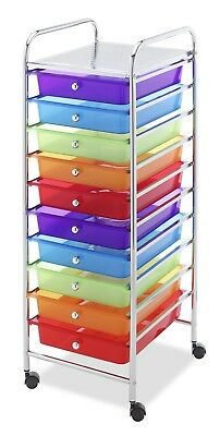 Rolling Cart Multi-Color Drawer Wheel Mobile Craft Cart Office Storage Classroom