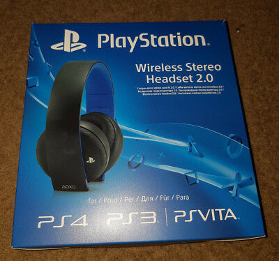 PlayStation PS4 Wireless Stereo Headset 2.0 schwarz 7.1-Raumklang 3,5mm - OVP