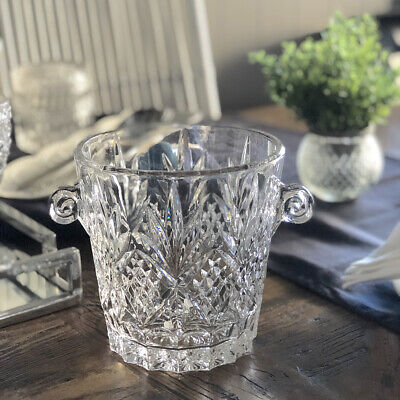 Stunning Glass Champagne Bucket/Wine Cooler/Ice Bucket/Vase