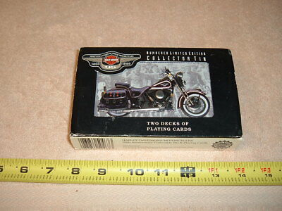 Harley Davidson 95Th Anniversary Collectible Tin And Playing Cards