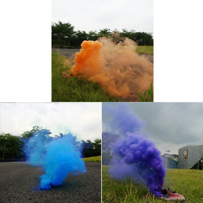 5pcs Colorful Smoke Cake Effect Show Round Bomb Photography Aid Toy Gifts