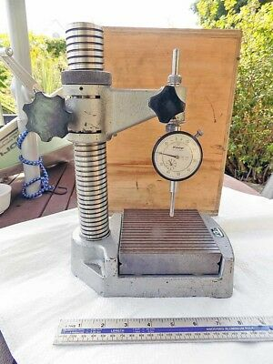 Vintage Precision Comparator Stand Table by TWC, UK with MITUTOYO Dial Gauge vgc