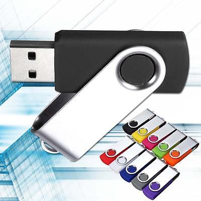 1GB-128GB U Disk Swivel USB 2.0 Flash Drive Memory Stick Pen Storage Thumb TR
