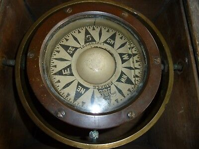 A Very Early Ships Compass By J. Parkes Of Liverpool In Original Box