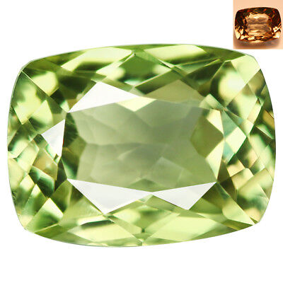 2.06Ct IF Superb Cushion Cut 8 x 6 mm AAA Color Change Turkish Diaspore