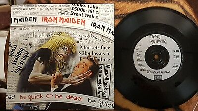 IRON MAIDEN   be quick or be dead  Single  UK 1992