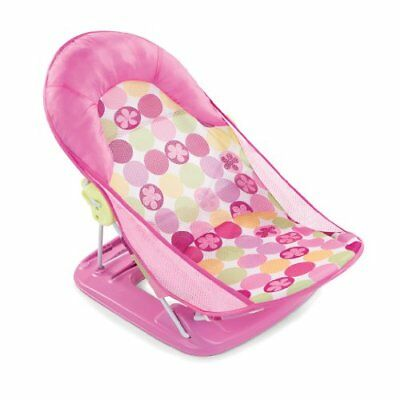New Infant Deluxe Baby Bather Pink Bath Tub Wash Foam Backrest Support Washing