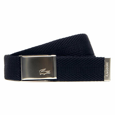 Lacoste Mens RC2015 Made in France Adjustable Buckle Woven Belt 25% OFF RRP