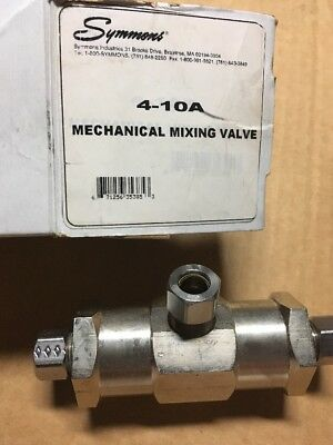 "Symmons 4-10A Mechanical Mixing Valve 3/8"" compression connections W/instruction"