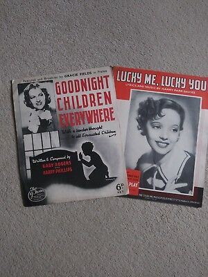 Vintage Sheet Music - Gracie Fields & Jessie Matthews - 1930's originals