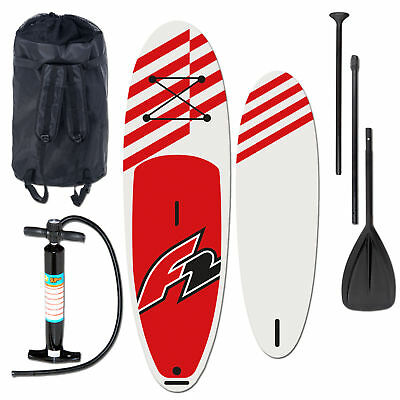 "F2 Allround Inflatable Sup Set 11,6"" Red + Pumpe & Rucksack & Paddel & Rep. Kit"