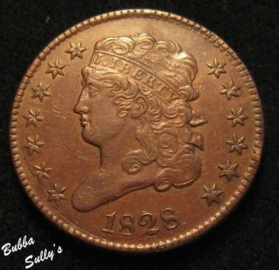 1828 Classic Head Half Cent <> EXTREMELY FINE