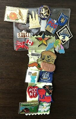 Convention Postal Pins and Patches - Lot Of 21 - Different Years And Cities