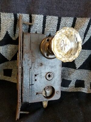Antique Door Knob And Lock Assembly