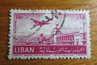Briefmarke Liban Aeroport Beyrouth