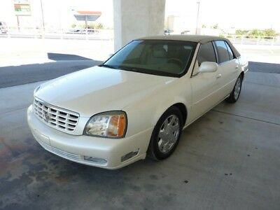 2002 Cadillac DTS  2002 CADILLAC DEVILLE  DTS 95000 MILES PEARL WHITE SIMULATED CONVERTIBLE TOP  !!