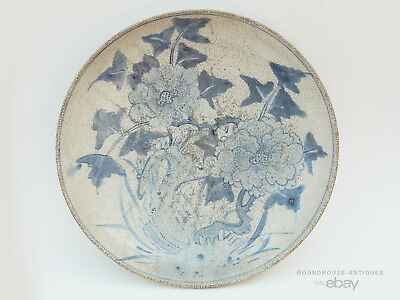 18th C. Antique Chinese Korean Blue White Porcelain Bowl Qing Joseon Dynasty