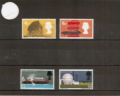 Great Britain 1966 SG701-4 British Technology-Inc SRN6 Hovercraft/Jodrell/Cars/W