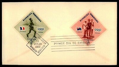 DOMINICA FDC 1957 SPORT SPORTS OLYMPICS 1956 MELBURNE OLYMPIA ap64