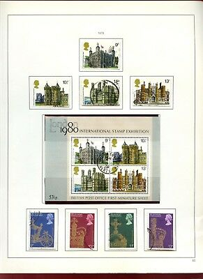 GB Used Comemoratives 1978 Album Page Of Stamps #V6868