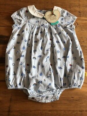 Little Bird By Jools Oliver Baby Romper 0-1 Month Summer Rainbow Kite Vintage