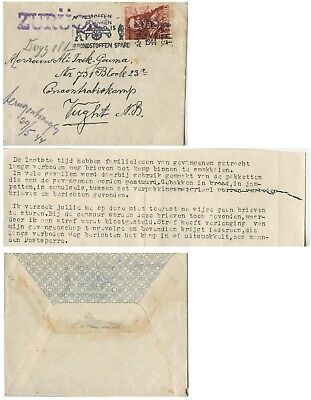 Holland, Cover to Camp Vaught (Hertogenbosch) returned, attached reasons, 1944
